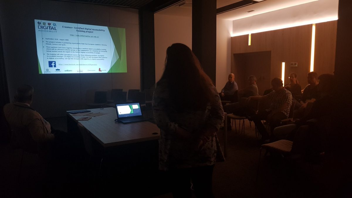Katja Kous presenting the project at the MIPRO'2019 Conference