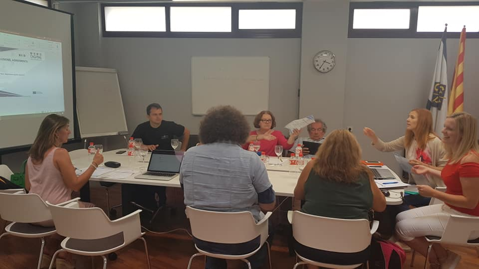 A picture of the partner meeting.