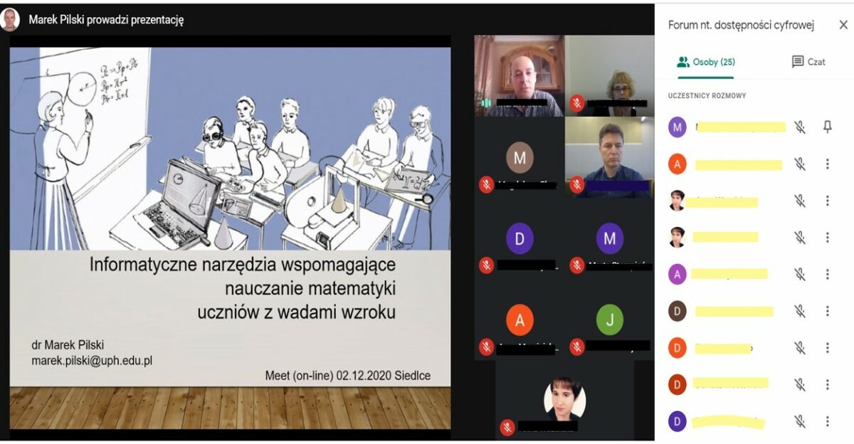 Screenshot of the video conference.